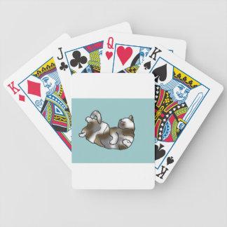 Ocioso del cielo baraja cartas de poker
