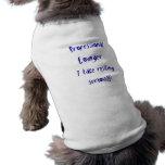 Ocioso profesional camisas de mascota