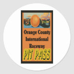 OCIR Pit Pass Round Stickers