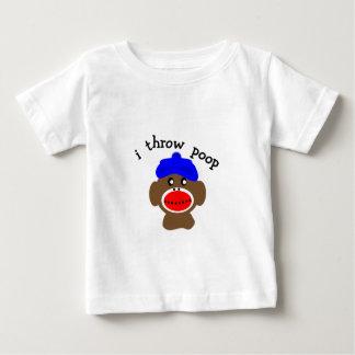 "ock Monkey ""I THROW POOP"" Infant T-shirt"
