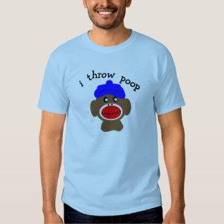 "ock Monkey ""I THROW POOP"" T-shirt"