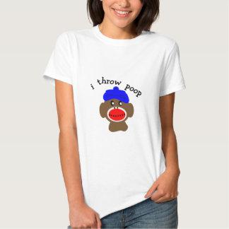 "ock Monkey ""I THROW POOP"" T Shirt"