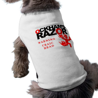 Ockham's Razor Craic Head Dog Shirt