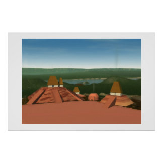Ocmulgee Mounds Painting Print