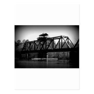 OCMULGEE RIVER BRIDGE - LUMBER CITY, GEORGIA POSTCARD