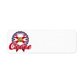 Ocoee FL Custom Return Address Label