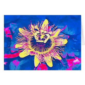 Ocoee flower Passiflora caerulea passion pop art Greeting Cards