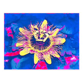 Ocoee flower Passiflora caerulea passion pop art Postcards
