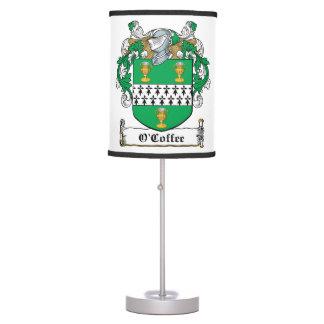 O'Coffee Family Crest Desk Lamp