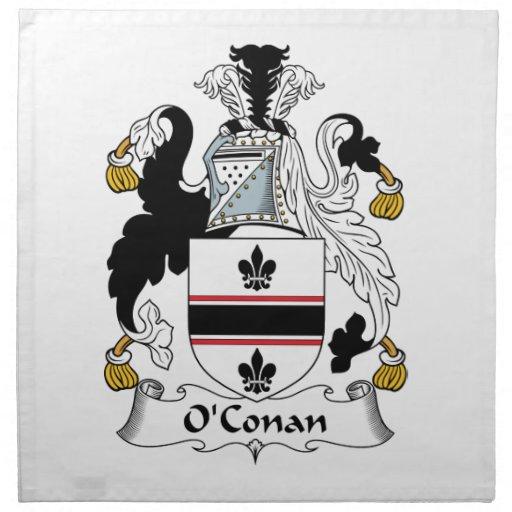 O'Conan Family Crest Cloth Napkins