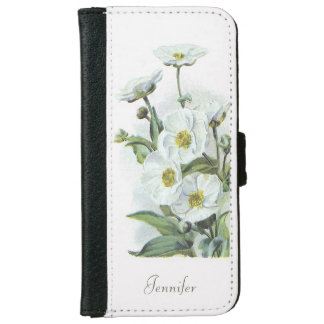 Oconee Bells Showy White Flowers Illustration Wallet Phone Case For iPhone 6/6s
