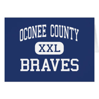 Oconee County Braves Middle Watkinsville Greeting Cards
