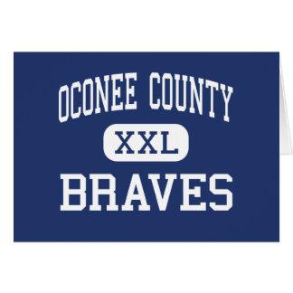 Oconee County Braves Middle Watkinsville Greeting Card