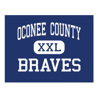 Oconee County Braves Middle Watkinsville Postcard