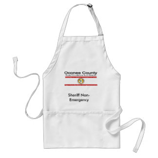 Oconee County Road Conditions and Wrecks Novelties Adult Apron