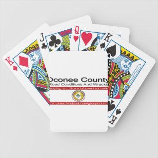 Oconee County Road Conditions and Wrecks Novelties Bicycle Playing Cards