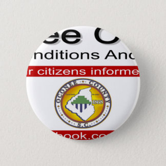 Oconee County Road Conditions and Wrecks Novelties Pinback Button