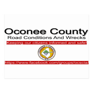 Oconee County Road Conditions and Wrecks Novelties Postcard
