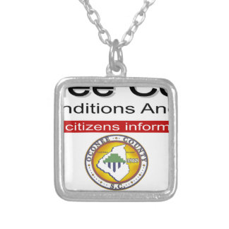 Oconee County Road Conditions and Wrecks Novelties Silver Plated Necklace