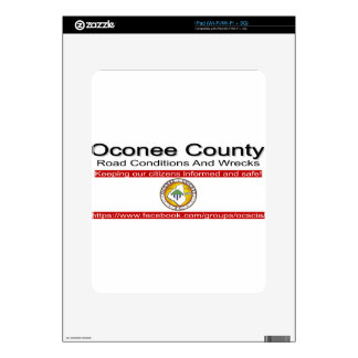 Oconee County Road Conditions and Wrecks Novelties Skins For The iPad