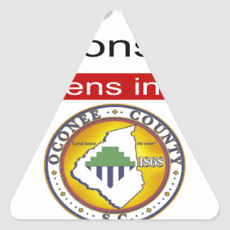 Oconee County Road Conditions and Wrecks Novelties Triangle Sticker