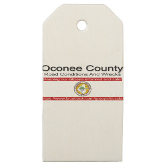 Oconee County Road Conditions and Wrecks Novelties Wooden Gift Tags
