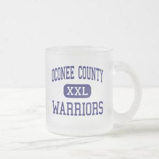 Oconee County - Warriors - High - Watkinsville 10 Oz Frosted Glass Coffee Mug