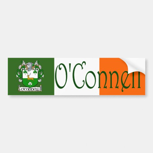 O'Connell Coat of Arms Bumper Sticker