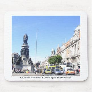 O'Connell Monument & Dublin Spire, Dublin Ireland Mouse Pad