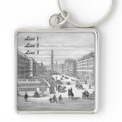 O'Connell Street Dublin Keychain Luggage Tag keychain