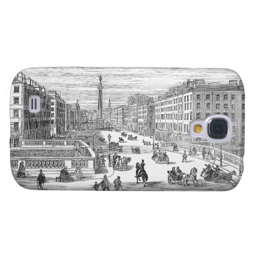 O'Connell Street Vintage Dublin Ireland Galaxy S4 Samsung Galaxy S4 Cover