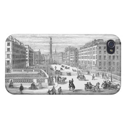 O'Connell Street Vintage Dublin Ireland iPhone 4 iPhone 4 Cover