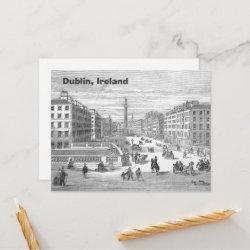 O'Connell Street Vintage Dublin Ireland Postcard postcard