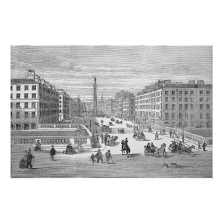 O'Connell Street Vintage Dublin Ireland Poster