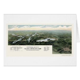 Oconomowoc and Waukesha, WI Panoramic Map - 1890 Card