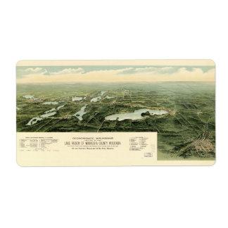 Oconomowoc & Waukesha Wisconsin (1890) Label