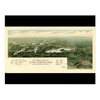 Oconomowoc & Waukesha Wisconsin (1890) Postcard