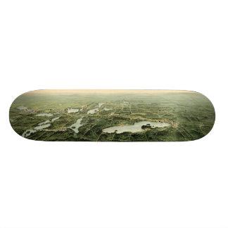 Oconomowoc & Waukesha Wisconsin (1890) Skateboard