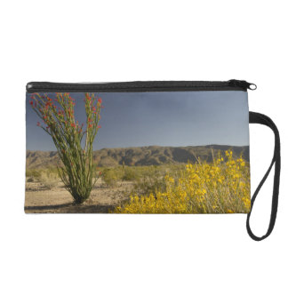 Ocotillo and desert senna wristlet purse