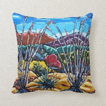 Art Themed Ocotillo Pillow