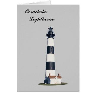 Ocrackoke Lighthouse Greeting Card