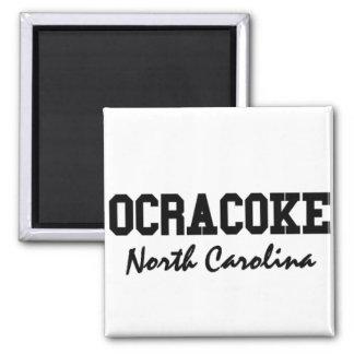 Ocracoke Carolina del Norte Imán Cuadrado