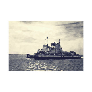 Ocracoke Ferry Digital Painting Canvas Print