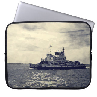 Ocracoke Ferry Digital Painting Computer Sleeve