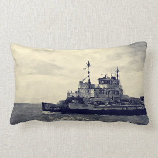 Ocracoke Ferry Digital Painting Lumbar Pillow