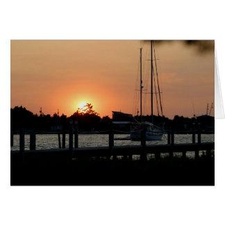 Ocracoke Harbor Sunset 2 Cards