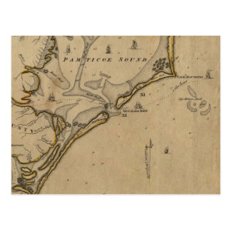 Ocracoke Inlet North Carolina 1775 Postcard