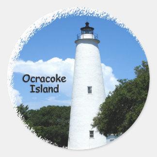 Ocracoke Island Light Classic Round Sticker