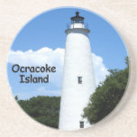 "Ocracoke Island Lighthouse Sandstone Coaster<br><div class=""desc"">Lighthouse on Ocracoke island in the Outer Banks.</div>"