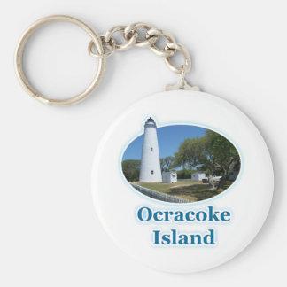 Ocracoke Island, North Carolina Basic Round Button Keychain